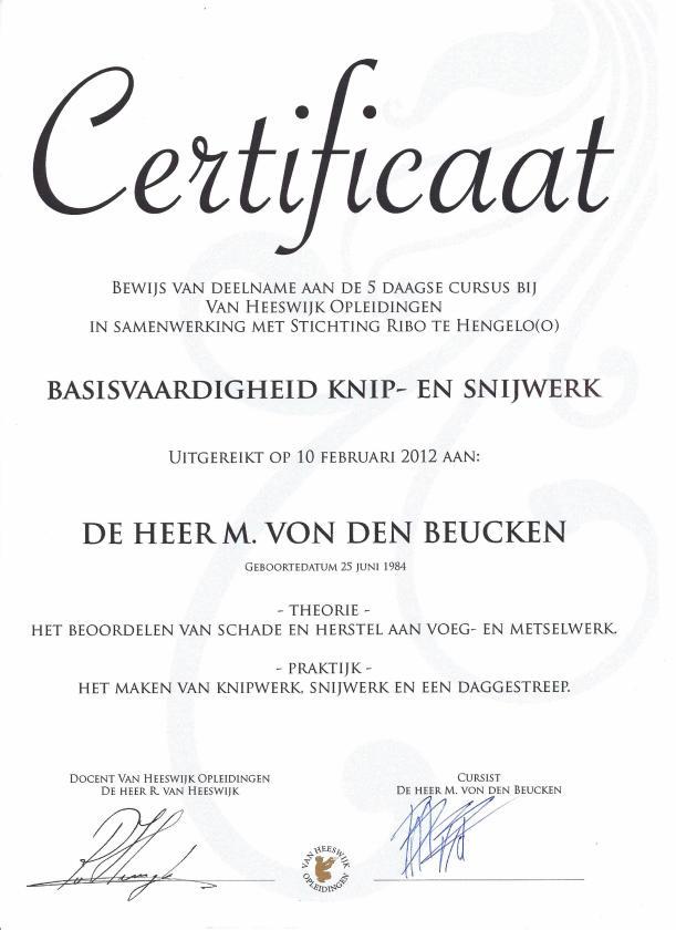 certificaat-de-beuck-gevelrestauratie_knipvoeg-snijvoeg-voegbedrijf-ambachtelijk-voegwerk-Marc-von-den-Beucken-EVC