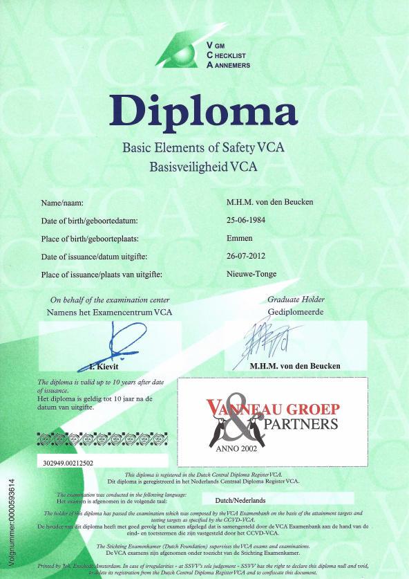certificaat-de-beuck-VCA-Marc-von-den-Beucken-EVC
